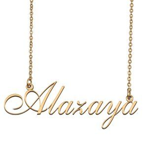 Custom Personalized Alazaya Name Necklace